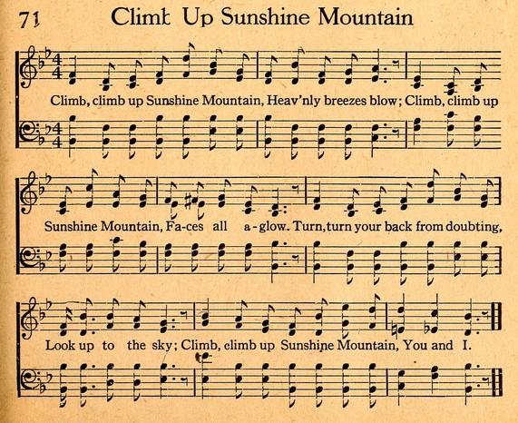 Climb up Sunshine Mtn