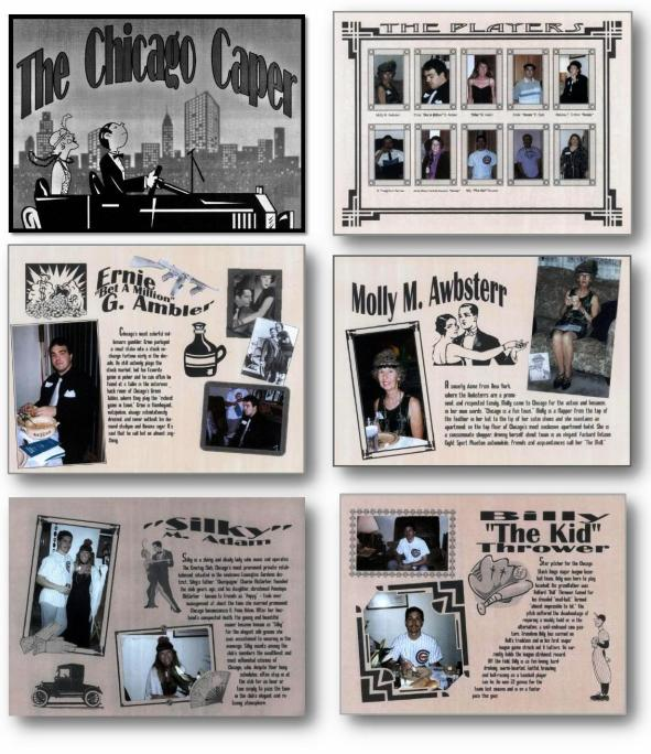 6. Chicago Caper scrapbook pages