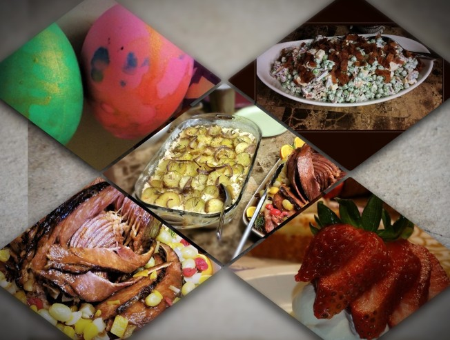 Easter Dinner collage2