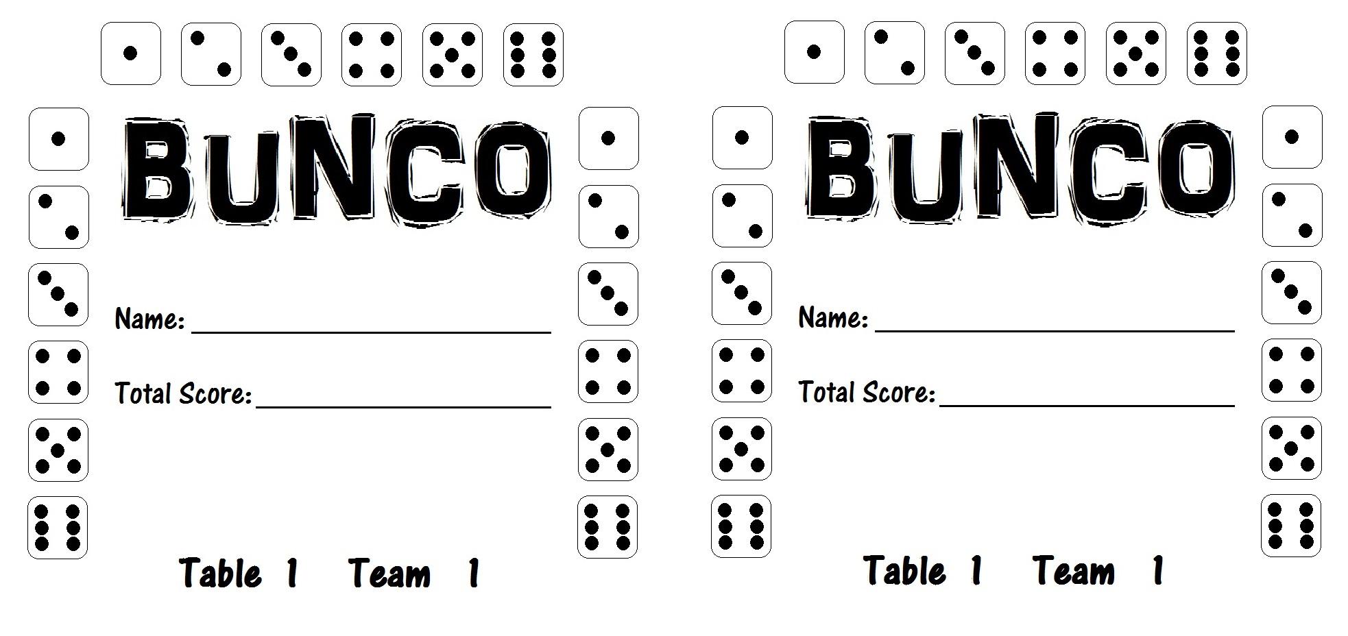 photograph about Printable Bunco Cards named Bunco Printables mrshlovesjesus