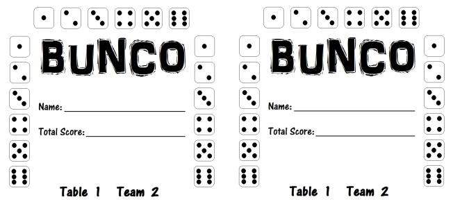 Bunco Card 1.2