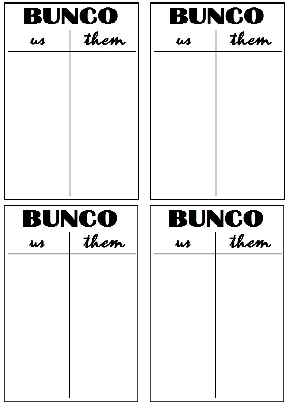 It's just a picture of Printable Bunco Sheets intended for tennis score