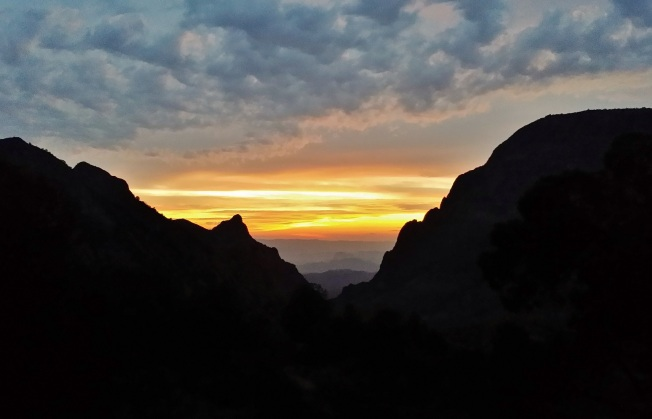 Sunset in the Chisos