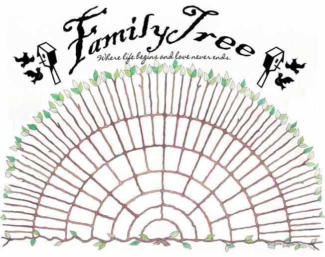 Blank fan tree