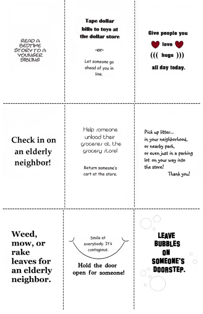 Random Acts Cards B