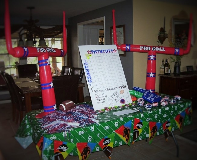 Superbowl party Welcome Table