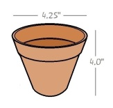 flower pot measurements