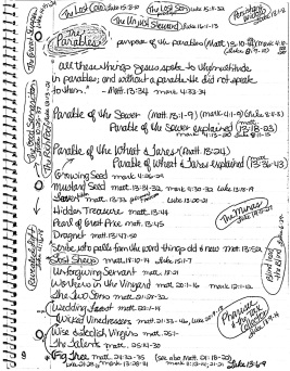 Parables notebook