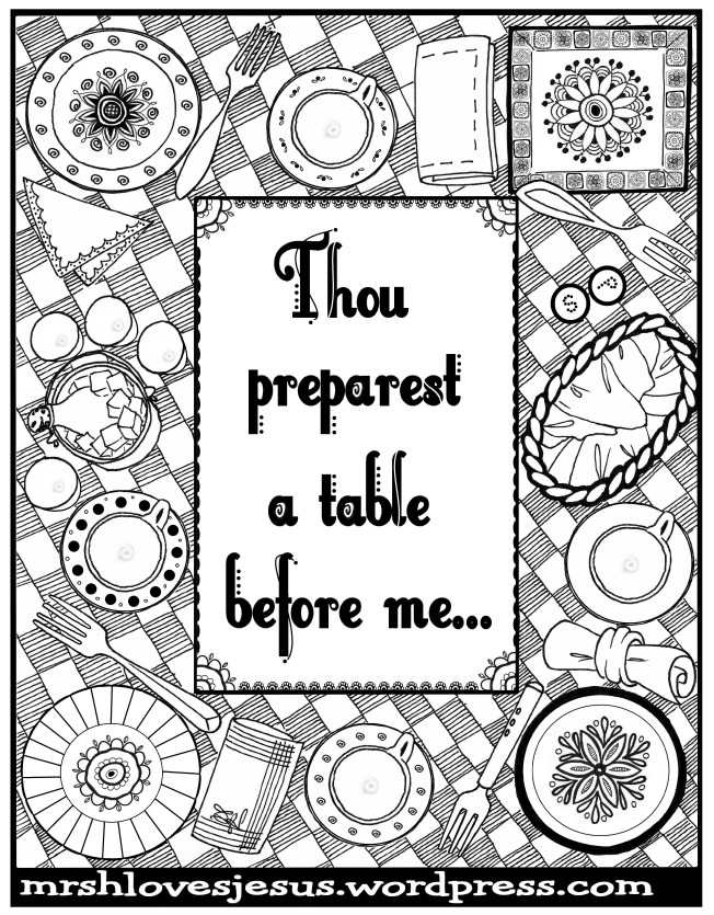 Thou Preparest a Table2