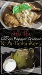 Creamy Lemon Pepper Chicken (& artichokes)
