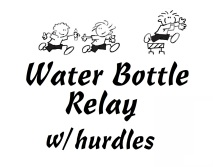 Water Bottle Relay w Hurdles