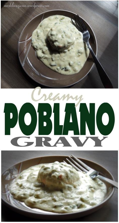 Creamy Poblano Gravy Spicy Mrshlovesjesus