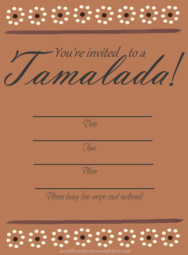 My Tamalada Invitation