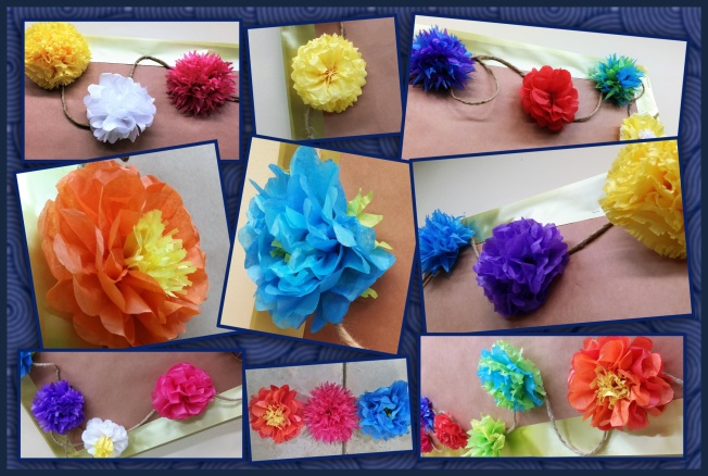 Tissue Paper Flowers collage