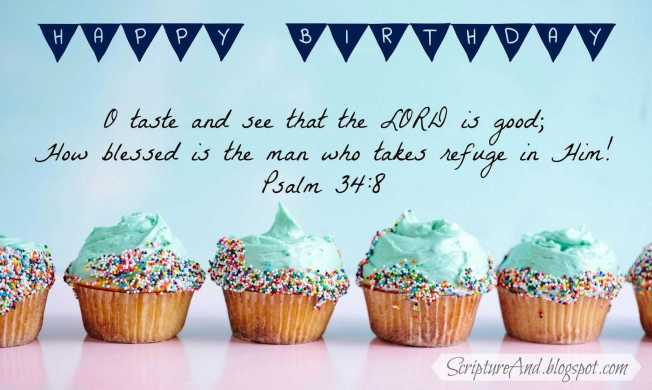 happy birthday scripture images Beautiful Scripture and Free Birthday with Bible Verses